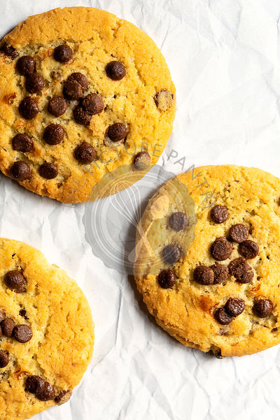 Homemade chocolate chip cookies.