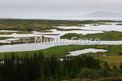 Thingvallavatn, Iceland's largest natural lake, Thingvellir National Park, Iceland