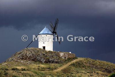 Old windmill (molino de viento) at Consuegra, Castilla-La Mancha, Spain