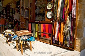 tourist shop, lindos, rhodes, dodecanese islands, Greece.