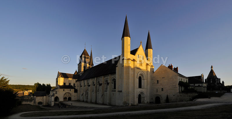 FRANCE, MAINE ET LOIRE, ABBAYE DE FONTEVRAUD//ROYAL ABBEY OF FONTEVRAUD, LOIRE VALLEY, FRANCE
