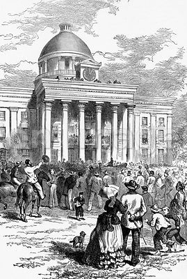 Inaguration of Jefferson Davis at Montgomery