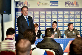 Siniša OSTOJIĆ of SEHA during the Final Tournament - Final Four - SEHA - Gazprom league, press conference, Croatia, 31.03.2016, ..Mandatory Credit ©SEHA/Nebojša Tejić.