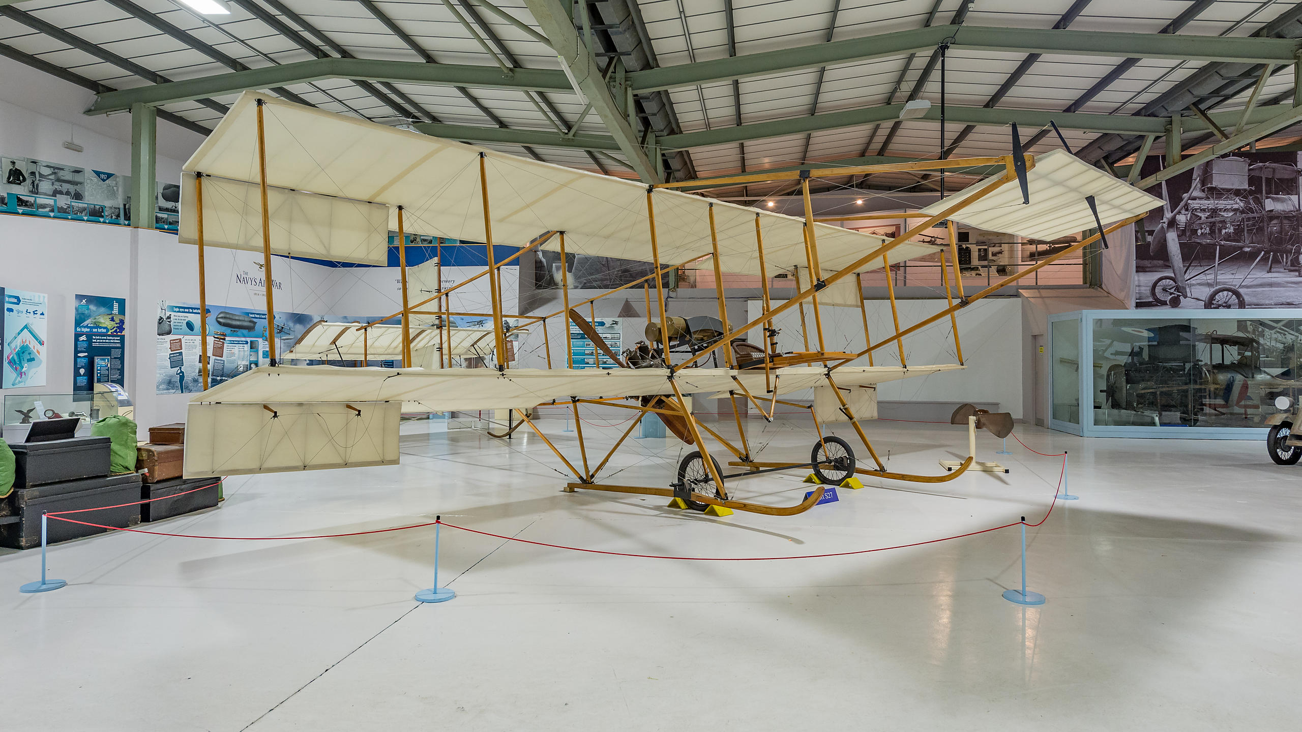 Wright Brothers' Aeroplane at the Fleet Air Arm Museum,