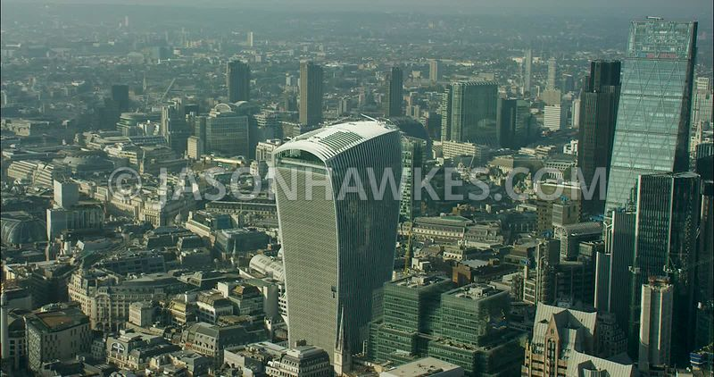 London Aerial Footage of 20 Fenchurch Street.