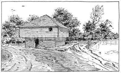 Blockhouse built by Meeker group in Washington Territory