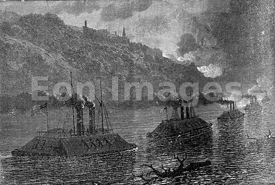 Civil War: gunboats at Vicksburg
