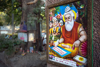 Poster depicting Baba Lokenath in Delhi, India