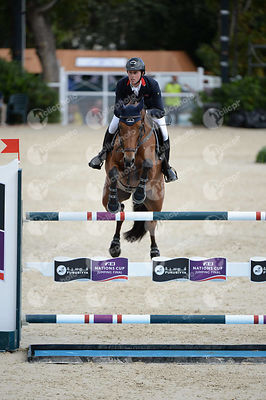 Ben MAHER ,(GBR), SARENA during Queen's Cup - Segura Viudas Trophy competition at CSIO5* Barcelona at Real Club de Polo, Barcelona - Spain