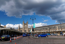 Temple Meads Railway Station, designed by Isambard Kingdom Brunel, Bristol, England.