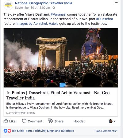 National Geographic Traveller India, Facebook Page photos