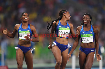 The U.S. team finished 1-2-3 in 100m Hurdles
