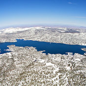 Big Bear Lake Winter Aerial Photography photographies