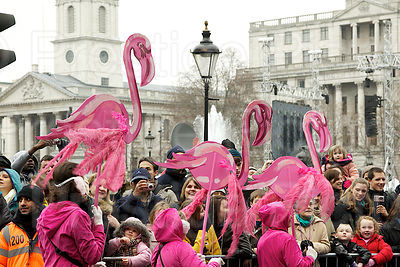 Pink Flamingo Dancers by Trafalgar Square