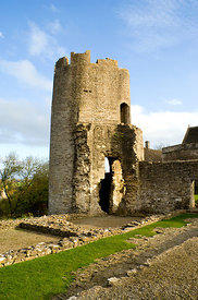 Farleigh Hungerford castle Somerset England. A fortified manor house built by the Hungerford family.
