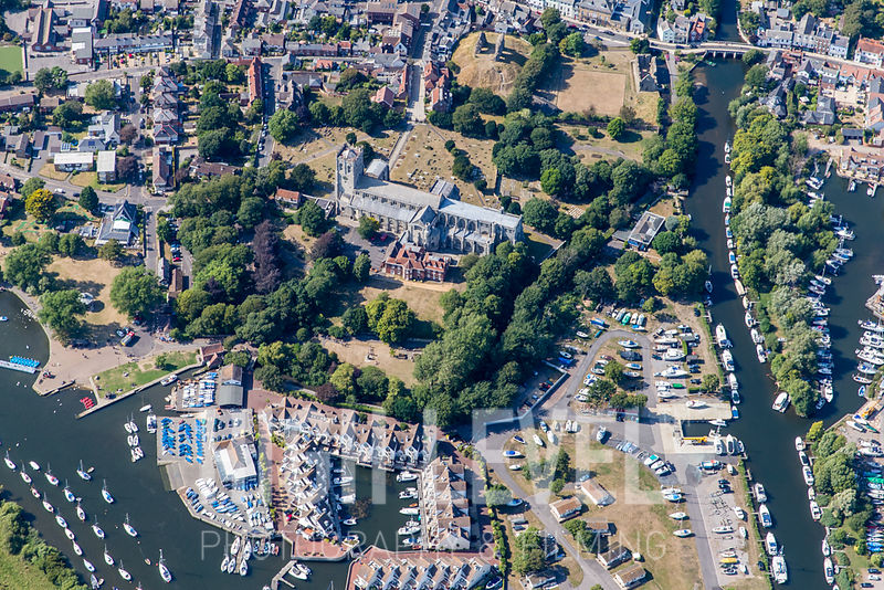 Aerial Photography Taken In and Around Christchurch-Christchurch Priory