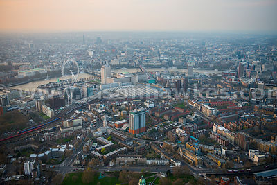 Aerial view of Waterloo Station, London
