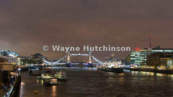 Tower Bridge, over the river Thames in London, capital city of the UK