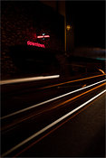 Downtown Las Vegas light trails