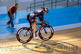 Junior Women Omnium Points Race. 2015 Canadian Track Championships