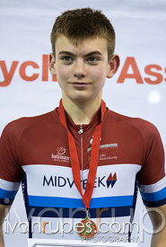 U15 Men Individual Pursuit Podium. Ontario Track Championships, Mattamy National Cycling Centre, Milton, On, March 3, 2017