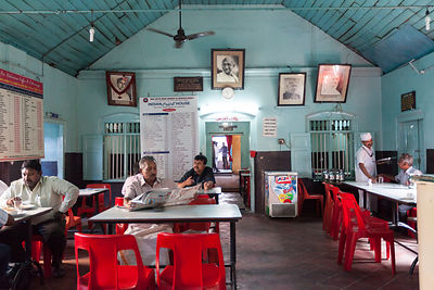 India - Kollam - The interior of the Indian Coffee House