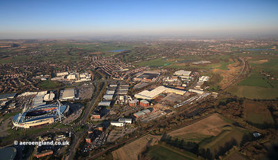 Lostock Industrial Estate, Horwich aerial photograph