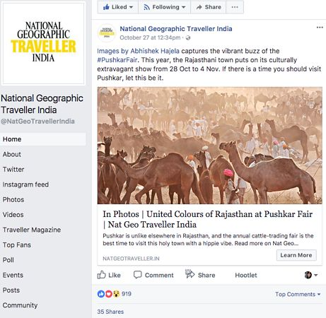 Nat Geo India, Pushkar Photo Essay on Facebook, Oct 27 2018 photos