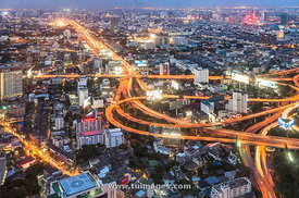 bangkok city view from high vantage viewpoint
