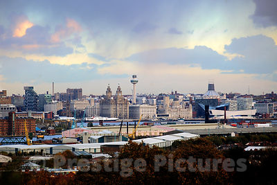 The Liverpool Skyline including Shipping Line company Clan Line
