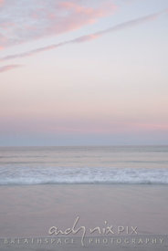 soft pink light over the sea