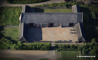 aerial photo of Waxham Great  Barn Norfolk England UK.