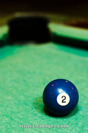 blue billiard ball