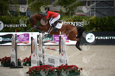 Abdel SAID ,(EGY), LURON SZ during Caixa Bank Trophy competition at CSIO5* Barcelona at Real Club de Polo, Barcelona - Spain