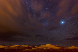 Stars, Dunes and Clouds in Marzuga Desert