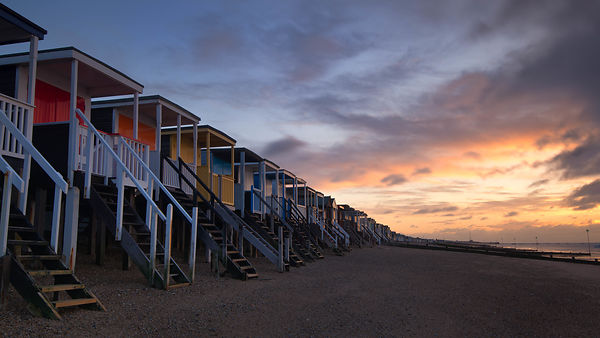 Beach huts @ Thorpe Bay