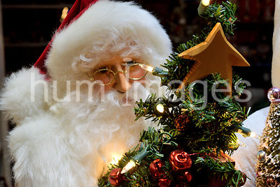 Santa Claus Mannequin in store window