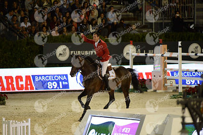 Gregory WATHELET ,(BEL), CONRAD DE HUS during Furusiyya FEI Nations Cup Jumping Final competition at CSIO5* Barcelona at Real Club de Polo, Barcelona - Spain