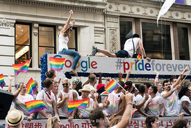NYC Pride Parade in Chelsea, NY.
