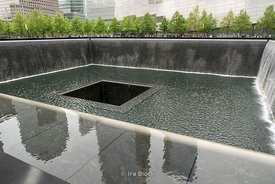 South Pool at the World Trade Center site, on the former location of the Twin Towers in New York.