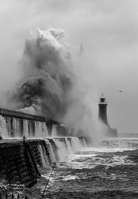 Big Waves over Tynemouth Pier