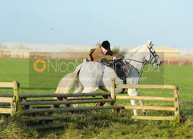 jumping a hunt jump behind Kennel Spinney - The Cottesmore Hunt at the kennels 21/10