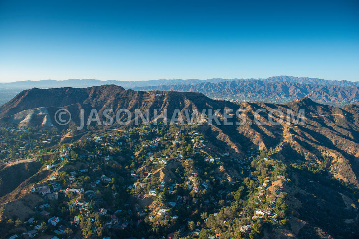Aerial view of Los Angeles, California. USA