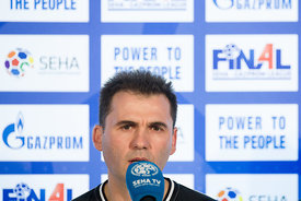 Raul Gonzales at the opening press conference  during the Final Tournament - Final Four - SEHA - Gazprom league, Skopje, 12.04.2018, Mandatory Credit ©SEHA/ Sasa Pahic Szabo