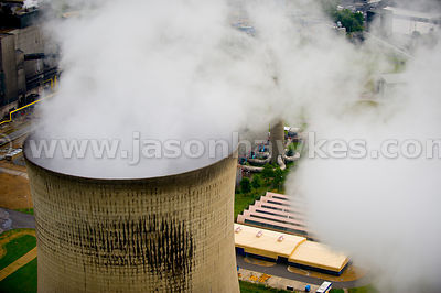 Aerial view of Didcot Power Station, Oxfordshire