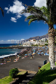 Black sand beach, Playa Arena, Tenerife, Canary Islands, Spain.