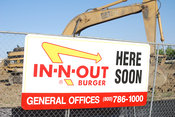 In -N- Out Burger restaurant coming soon
