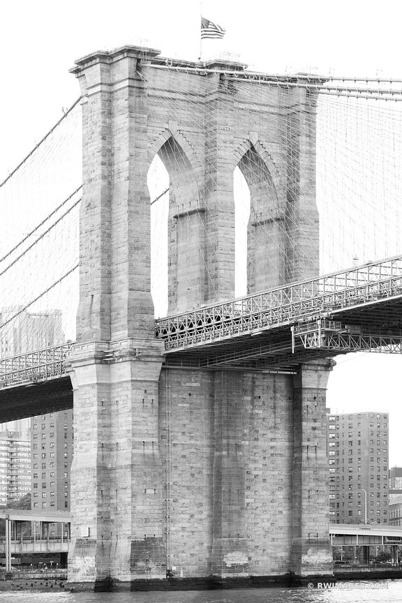 BROOKLYN BRIDGE BLACK AND WHITE NEW YORK CITY NEW YORK VERTICAL