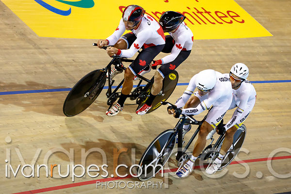 Mixed Individual Pursuit B  Finals. Track Day 1, Toronto 2015 Parapan Am Games, Milton Pan Am/Parapan Am Velodrome, Milton, On; August 10, 2015