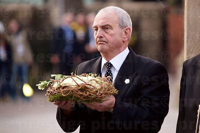 Undertaker Holding the Wreath from Richard III's Coffin